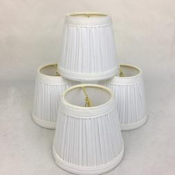 1 Urbanest Mini Lamp Shade White Pleated Clip On Bell Shape