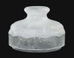 "10"" ~ SATIN CRYSTAL TOP ~ Hand Blown Glass Lamp Shade  ~ Fit"