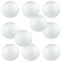 "10 "" White Round Paper Lantern Lamp Shades Home Wedding Part"
