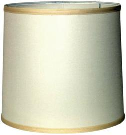 """A Ray Of Light 121312OFF Linen Drum Shande, Off White, 12"""" x"""