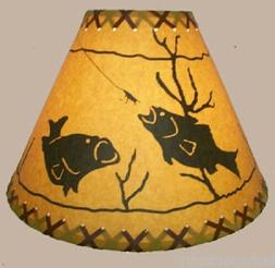 "14"" Bass Fish Lamp Shade"