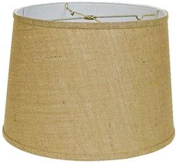 "Albert Estate Ltd, 16"" Custom Made Burlap Drum Shade"