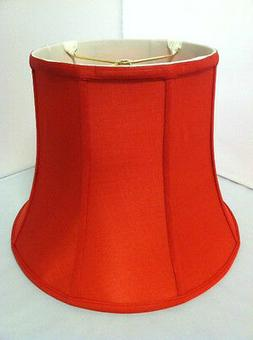 """14""""Red Silk Lampshade Modify Bell Shape Fabric Lamp Shade Sp"""
