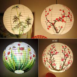 1pc Round Paper Lantern Wedding Lamp Shade Grad Party Ceilin