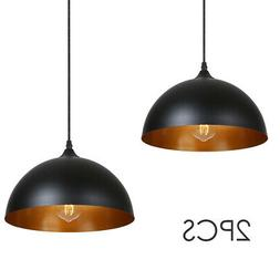 2Pack Industrial Ceiling Light Hanging Pendant Lamp Shade Fi