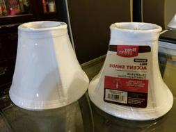 2x faux silk mini accent lamp shade