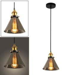 2x Hanging Ceiling Lamp Shade Vintage Retro Loft Glass Penda