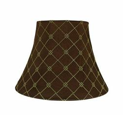 Aspen Creative 30221 Bell Shaped Spider Lamp Shade, Brown 7""
