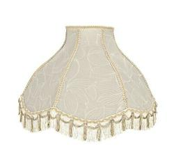 Aspen Creative 30302 Scallop Bell Shape Spider Lamp Shade, C