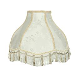 Aspen Creative 30331 Scallop Bell Shape Spider Lamp Shade in