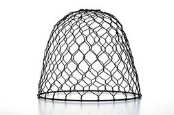 Chicken Wire Shade Metal Dome Manufactured in China Black 10
