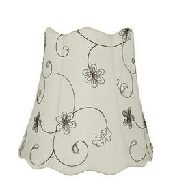 Aspen Creative 34064 Scallop Bell Spider Lamp Shade, Off Whi