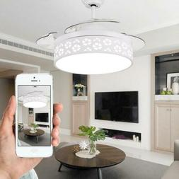 """42"""" Dimmer Flower Lamp Shade Ceiling Fan Light Invisible  LE"""