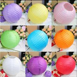"5pcs Round Paper Lamps Lantern 6""8""10""12""14"" Wedding Birthda"