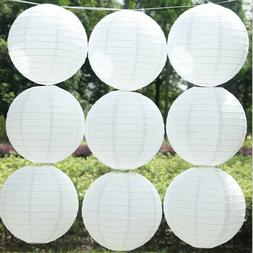 5Pcs White Chinese Paper Balloon Lantern Lamp Shade Wedding