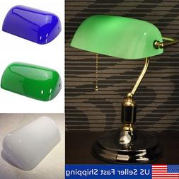 5X9'' Glass Banker Modern Desk Lamp Shade Cover Cased Replac