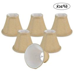 Wellmet 6 PCS Small Clip On Bell LampShade Set Vintage Lamp