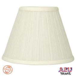 7.5-in x 10-in Cream Fabric Style Bell Lamp Shade Clip-on Fo
