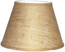 A Ray Of Light 81410BUR Brown Burlap Modified Drum Shade, 8""