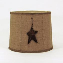 Albert Estate LTD, AES1053-14WADR-Star Natural Burlap Drum S