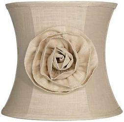 Almond Linen with Flower Drum Shade 11x12x11