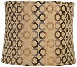 Copper Circles Drum Lamp Shade 13x14x11