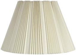 Eggshell Pleated Bell Shade 9.5x19x13