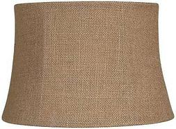 Natural Burlap Drum Lamp Shade 10x12x8