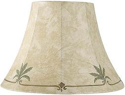 Palm Leaf Faux Leather Lamp Shade 9x18x13