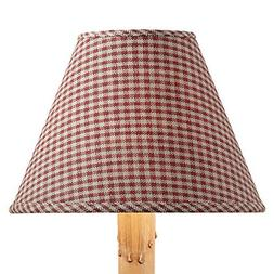 "Park Designs York 12"" Mini Check Wine Shade"