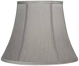 Pewter Gray Bell Lamp Shade 8x14x11