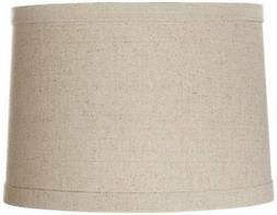 Springcrest Natural Linen Drum Shade 13x14x10