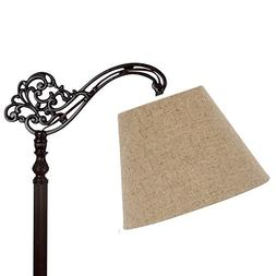Upgradelights Beige Burlap 12 Inch Uno Lamp Shade Replacemen