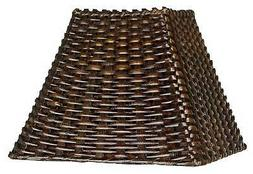 Wicker Square Lamp Shade 4.75x11x8