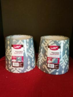 Better Homes And Gardens Accent Drum Lamp Shades blue/beige