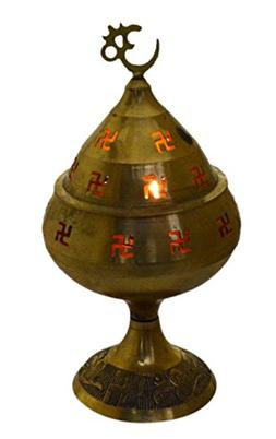Akhand Jyoti / Diya / Deepak / Jot Oil Brass Lamp 8 Inches -