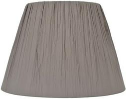 allen + roth 11-in x 15-in Gray Fabric Bell Lamp Shade