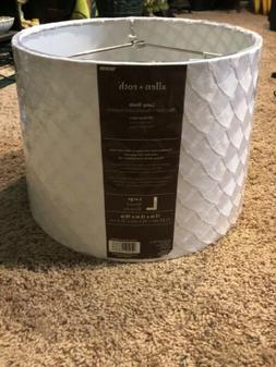 Allen + Roth 13in x 15-in x 10 In Off White Fabric Lamp Shad