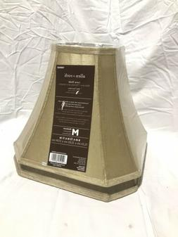"""allen + roth Beige Fabric Bell Lamp Shade Med 6 x 13 x 11"""" -"""