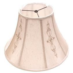 allen + roth Beige Fabric Bell Lamp Shade Traditional Style
