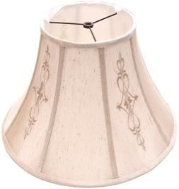 Allen Roth Bell Lamp Shade Beige Fabric Large Causal Traditi