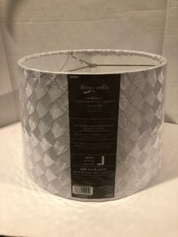 allen + roth White Fabric Lamp Shade Modern Style Decor Larg