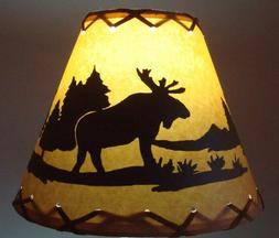 BEAR Table Light Cabin Cottage LAMP SHADE Clip-On Bulb Style