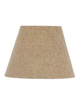 Upgradelights Beige Burlap 12 Inch Empire Style Washer Lamps