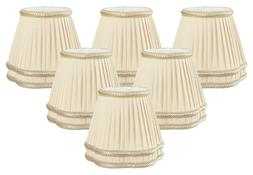 Beige Pleated with Decorative Bottom Trim Empire Chandelier