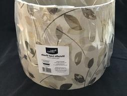 better homes and gardens metallic leaf round