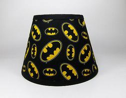 Black Batman Signal Cotton Fabric Lamp Shade Lampshade Handm