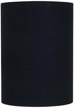 Black Linen Cylinder Lamp Shade 8x8x11