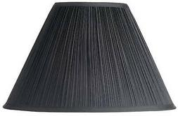 Black Mushroom Pleated Lamp Shade 7x17 x 11.5