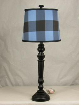 Albert Estate LTD, Black Spindle Table Lamp with Shade, 12""